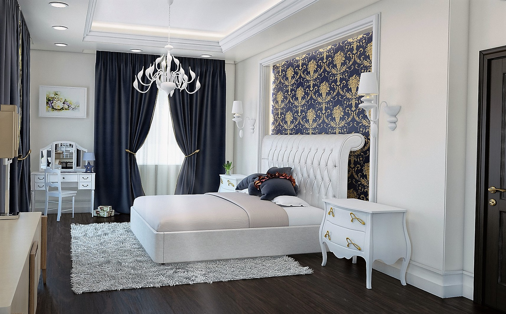 Ložnice luxusní interiér