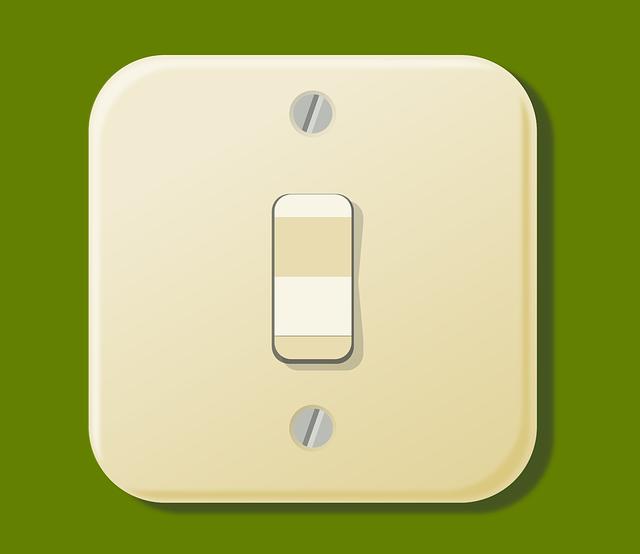 přišroubovaný vypínač